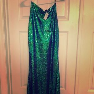 Windsor Full Sequin, Mermaid Maxi Skirt